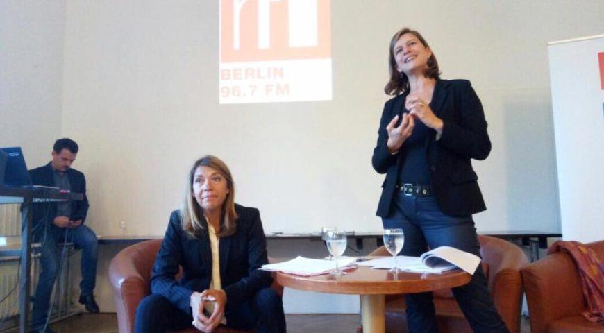 Visite de Marie-Christine Saragosse et Cécile Mégie